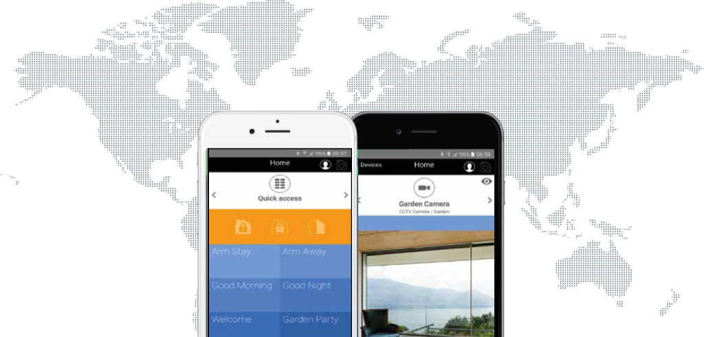 هوش سازه نمایندگی انحصاری Nice نایس ایتالیا سیستم های مدیریت هوشمند ساختمان - خانه هوشمند - سیستم سکوریتی - دزدگیر خانه دزدگیر منزل دزدگیر اماکن سیستم امنیتی حرفه ای MyniceWorld application